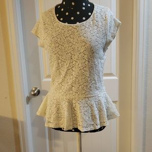 Vince Camuto Lacey short sleeve blouse